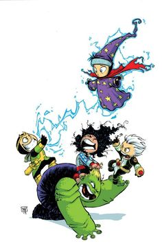 YOUNG AVENGERS #1 variant by Skottie Young