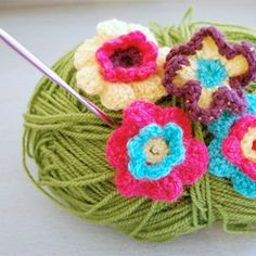 Make your own crochet flowers, using my free pattern. They make fun embellishments for many projects.