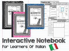 #interactive #notebook for students of #Italian #language