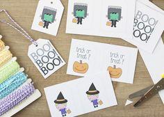 Azucarillos de Colores: Etiquetas imprimibles para Halloween