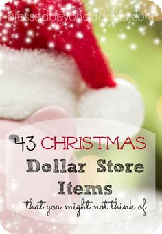 Check out these 43 Christmas deals dollar store items that you might not have thought of. Lots of FUN ideas, too!