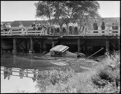 Auto goes off bridge and into water | por Boston Public Library