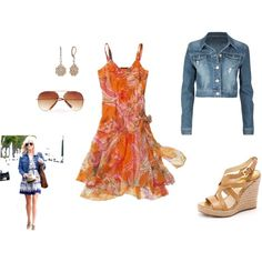 Spring must haves - Sundress with cropped denim jacket and espadrilles (ala Reese Witherspoon)