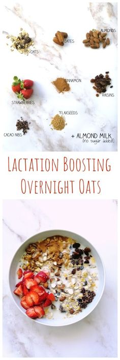 Are you a breastfeeding mom? Try this Lactation Boosting Overnight Oats to help with your milk production. It's easy to make and delicious! Easy Brunch Recipes, Healthy Brunch, Delicious Breakfast Recipes, Healthy Recipes, Brunch Casserole, Make Ahead Meals, Meal Prep, Food To Make, Overnight Oats