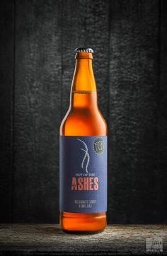 Out of the Ashes seasonal beer - Fort Collins Brewery. Product photo by JMVDIGITAL. #burn #smoke #advertising