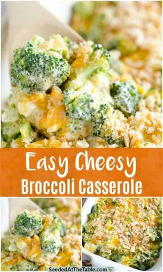 This broccoli cheese casserole is an easy cheesy broccoli casserole recipe! We top our broccoli casserole with Ritz crackers for an even more delicious holiday side dish! #broccoliandcheese