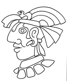 Tribal Drawings, Tribal Art, Mayan Glyphs, Coloring Books, Coloring Pages, Aztecas Art, Peru, Aztec Culture, Chile