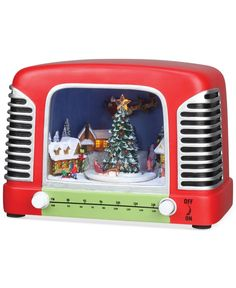 Roman Musical & Lighted Radio with Scene Christmas Decoration