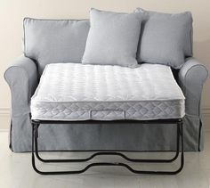 """58""""W Twin Sleeper Sofa - Might be good for the cottage or tiny house."""