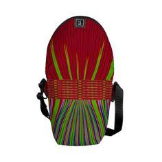 Red Green Blue Stripe Mini Messenger Bag