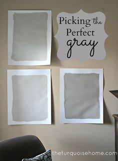 Picking the Perfect Gray {Paint} | via TheTurquoiseHome.com