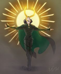 """Your savior is here!!!"" Hahahahaha... Lokiiii"