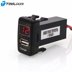 5V 2.1A USB Interface Socket Iphone/ipad/Smart phone Car Charger and Voltage Meter Battery Monitor Use for TOYOTA Hilux VIGO
