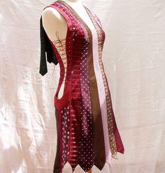 Recycled tie dress