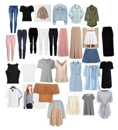 """""""Spring capsule bottoms"""" by brianna-snow-i on Polyvore featuring rag & bone, New Look, Frame, WithChic, River Island, Little Mistress, Basler, Monki, H&M and STELLA McCARTNEY"""