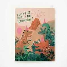Dinosaur Birthday Card by Quill & Fox