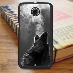 Black Wolf Howling Nexus 6 Case