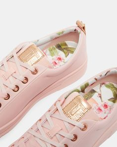 Printed lace up sneakers - Pink | Shoes | Ted Baker