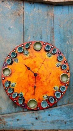 HODINY Ceramic Clay, Ceramic Pottery, Clay Projects, Clay Crafts, Cool Clocks, Clock Art, China Art, Fused Glass Art, Pottery Studio