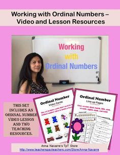 Working with Ordinal Numbers - Video and lesson resources