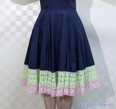 Как удлинить платье или юбку крючком