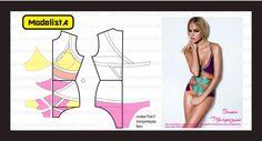 Tutorial & Free Pattern for Colorful Monokini