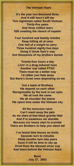 The Vietnam Years.............Rich 'Boon' Preston