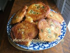 Okra Fritters recipe : 1 1/4 cups self-rising cornmeal (*OR* 1 1/4 cups of cornmeal+ 2 tsp baking powder, 1/2 tsp salt ); 1/2 cup all- purpose flour; 1 egg; 1/2 cup onion, finely chopped; 1 1/2 cups buttermilk; salt & pepper. Mix all ingredients. Add 2 cups sliced okra (fresh or frozen).  Drop by spoonfuls in hot oil & fry on one side about 2 minutes or until brown &  crusty; turn & fry the other side. Drain on paper towels. #South #Southern