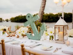 For a seaside or seaside-themed wedding - 9 Ideas To Inspire Your Nautical Wedding | TheKnot.com