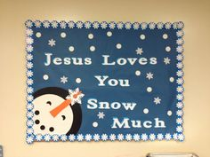 Trendy Craft For Kids Sunday School Bulletin Boards Ideas Religious Bulletin Boards, Bible Bulletin Boards, Christian Bulletin Boards, Winter Bulletin Boards, Preschool Bulletin Boards, Bullentin Boards, Kindergarten Christmas Bulletin Board, Preschool Classroom, Sunday School Classroom