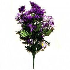 This artificial bunch of daisy flowers measures 50cm tall.    The advantages of Artificial Plants Include