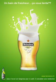 "Heineken ad- ""Un bain de fraicheur... ça vous tente?"" / ""Um banho refrescante... alguém?"" /  ""A refreshing bath...anyone?"" (#advertising)"