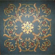 stencil medalion idea for the dining room.