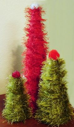 fun fur christmas trees by margie
