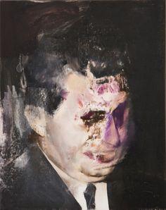 Adrian Ghenie, Study for Boogyman, 2010 Francis Bacon, Cool Paintings, Landscape Paintings, Adrian Ghenie, Portraits, Portrait Ideas, Purple Art, Japanese Poster, Weird Art