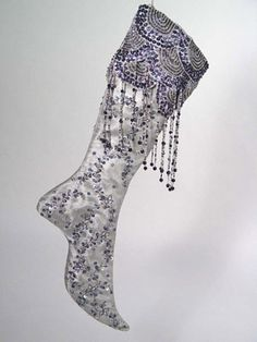 Katherine's Collection Stocking -- Silver Ice