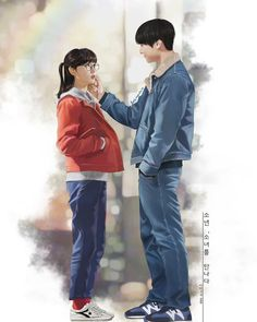 Pin by jazmine on k-drama fanart Drama Korea, Korean Drama, Park Bo Young, Dramas, Couple Illustration, Disney Sketches, Couple Relationship, Fashion Couple, Drama Queens
