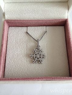 Pandora snowflake pendant.