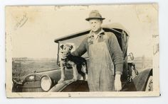c. 1921 - Fresno, CA  (Backside of photo: one of my young pets my Airedale)