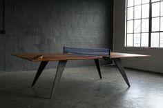 Ping Pong Table Tennis Table Idea Resort deals for all of my Table Tennis friends! Best Ping Pong Table, Ping Pong Table Tennis, Coffee Table Styling, Coffee Table Design, Dining Room Table, A Table, Table Legs, Table Tennis Conversion Top, Outdoor Table Tennis Table