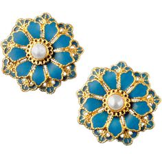 The Met Store - Chinese Layered Blossom Button Earrings
