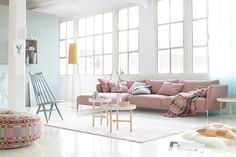 Beautiful living with pastel shades! Room Inspiration, Home And Living, Living Room Loft, House Interior, Living Room Inspiration, Home, Home Decor Styles, Salas Living Room, Room