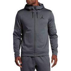 Jordan Men's Therma 23 Protect Alpha Full Zip Hoodie, Size: Medium, Dark Grey/White