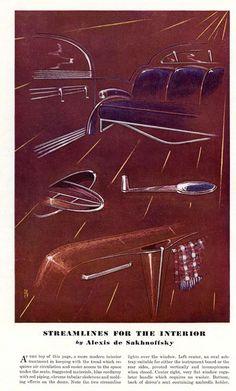 1937 - Alexis De Sakhnoffsky Streamlining