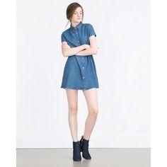I just added this to my closet on Poshmark: Zara short sleeve denim dress. Price: $36 Size: M
