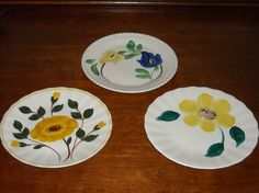 Trio of Vintage Blue Ridge Pottery Plates by VintageEclectibles, $20.00