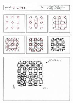 "Lily's Zentangle - Pattern ""Alhambra"""