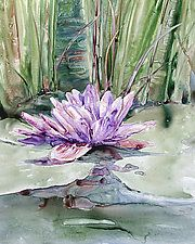 """Water Lily by Maureen Kerstein (Giclee Print) (15"""" x 12"""")"""