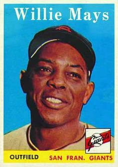 willie mays cards value | ... set name 1958 topps card size 2 1 2 x 3 1 2 number of cards in set 533