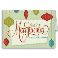 #Vintage #Retro Merry #Christmas Card Classic Design #santa #holidays #Christmascard